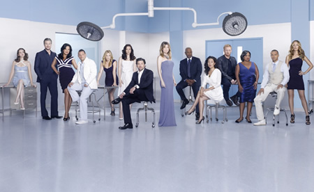 grey's anatomy season 8 rare promo cast photo patrick dempsey hot sexy ellen pompeo promo photo