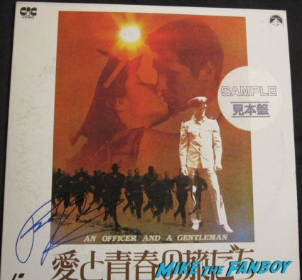 richard gere signed autogaph an officer and a gentleman promo movie poster laser disc rare hot sexy japanese import