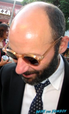 Michael Marisi Ornstein  signs autographs for fans at the sons of anarchy premiere in westwood