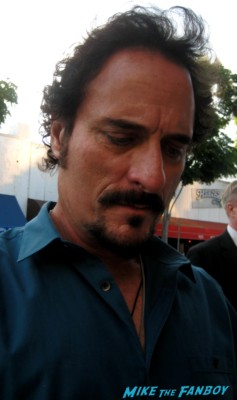 Kim Coates signs autographs for fans at the sons of anarchy world premiere in westwood rare promo