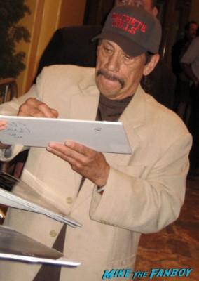 Danny Trejo signs autographs for fans at the sons of anarchy world premiere in westwood rare promo