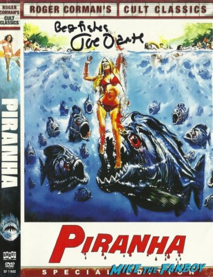 Joe Dante signed autograph piranha dvd cover rare promo