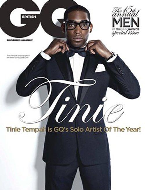 Tinie Tempah british gq magazine october 2012 magazine cover hot photo shoot rare promo