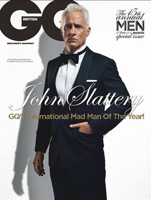 man men star john slattery british gq magazine october 2012 magazine cover hot photo shoot rare promo