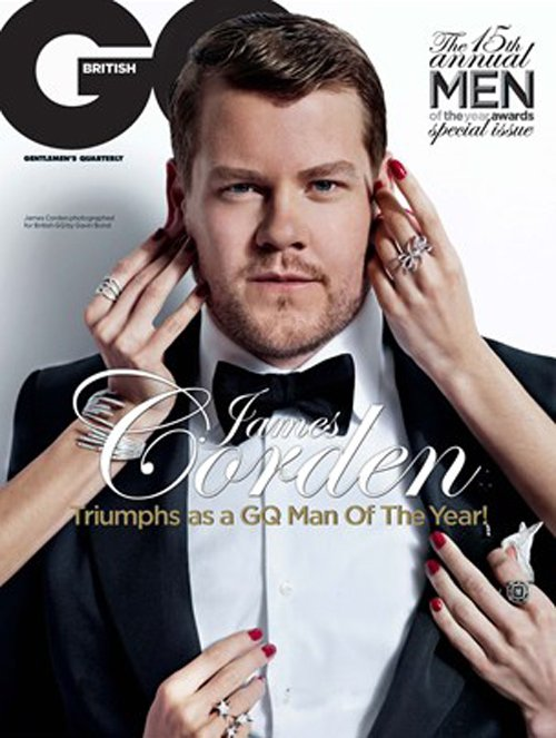 James Corden  british gq magazine october 2012 magazine cover hot photo shoot rare promo