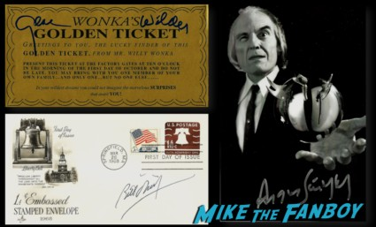 Gene Wilder signed golden ticket angus schrumm hot sexy rare promo photo dance rare signed autograph rare promo photo