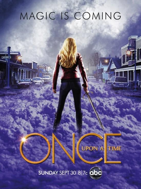 Once upon a time season 2 premiere poster abc rare jennifer morrison hot sexy blonde lana parrilla season premiere september 30th