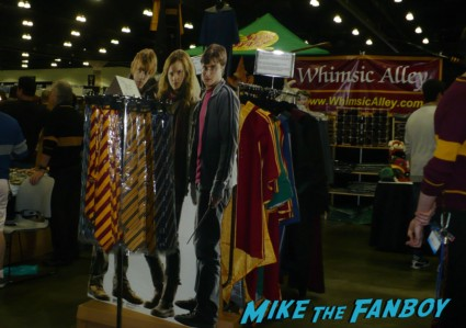 selling harry potter memorabilia at  stan lee's  comikaze expo 2012 sweating in the heat of the day