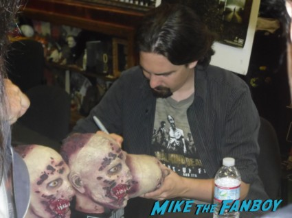 Bear McCreary signing autographs for fans at the walking dead season 2 dvd signing at dark delicacies rare promo