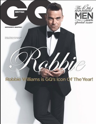 robbie williams british gq magazine october 2012 magazine cover hot photo shoot rare promo