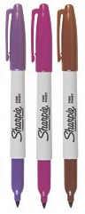 purple maroon and brown sharpie pens markers rare promo hot sexy marker