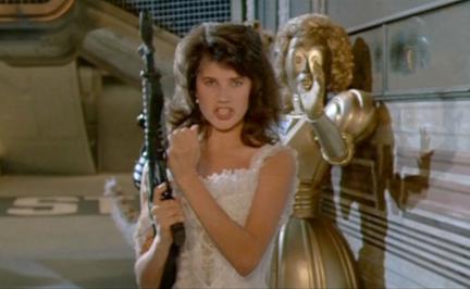 Daphne Zuniga spaceballs rare promo press still he shot my hair hot sexy princess vespa promo dot matrix mel brooks