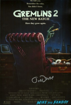 Joe Dante signed autograph gremlins 2 the new batch movie poster promo