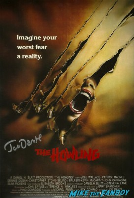 joe dante signed the howling dvd cover critters 2 signed autograph dvd cover joe dante rare promo signed autograph signature