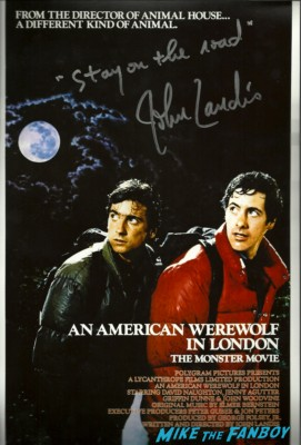 an american werewolf in london signed autograph dvd cover mini poster rare promo