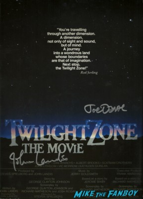 twilight zone the movie signed autograph promo mini movie poster john landie joe dante