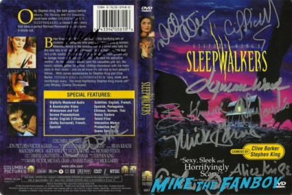 Sleepwalkers signed autograph dvd cover  john landis joe dante rare promo signing autographs at dark delicacies in burbank