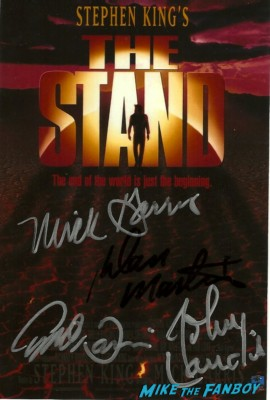 signed autograph the stand dvd cover john landis, joe dante, dan martin signing autographs at dark delicacies rare