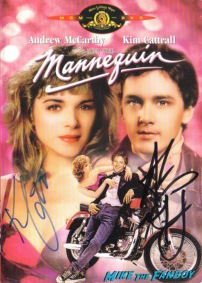 andrew mccarthy kim cattrall signed autograph mannequin dvd cover hot rare promo