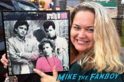 pinky with her signed autograph pretty in pink vinyl record album cover rare john hughes classic signed by molly ringwald