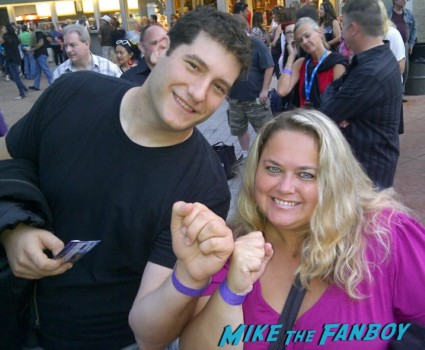 mike the fanboy and pinky showing off their VIP wristbands for the Go-Go's concert at the Hollywood Bowl
