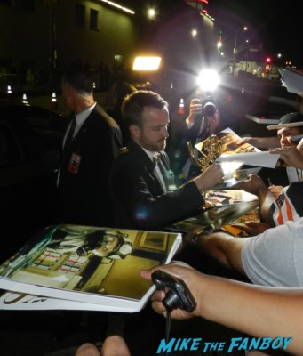 sexy aaron paul signing autographs at the Emmy Party 2012! The Stars Of AMC! Breaking Bad! Mad Men! With Aaron Paul! Bryan Cranston! John Slattery! RJ Mitte! Betsy Brandt! Autographs! Photos and More!