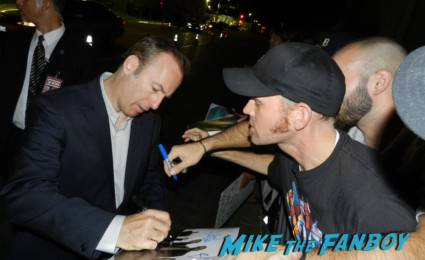 Bob Odenkirk signing autographs robert morse signing autographs at the Emmy Party 2012! The Stars Of AMC! Breaking Bad! Mad Men! With Aaron Paul! Bryan Cranston! John Slattery! RJ Mitte! Betsy Brandt! Autographs! Photos and More!
