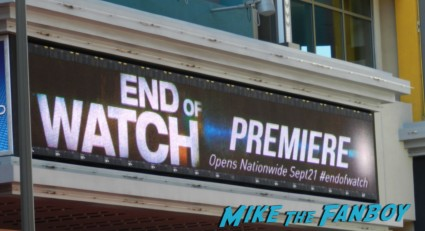 end of watch movie premiere Jake Gyllenhaal  hot sexy rare promo marguee rare promo signing autographs rare promo