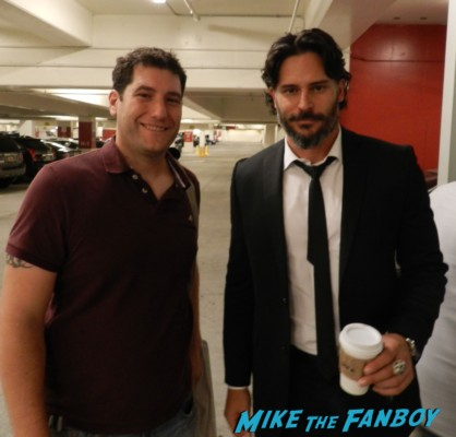 Mike The Fanboy with True Blood star joe Manganiello hot sexy rare promo fan photo werewolf