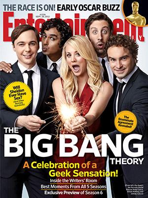 the big bang theory entertainment weekly cast cover photo shoot rare promo kaley cuoco jonny galecki kunal nayyar jim parsons simon helberg