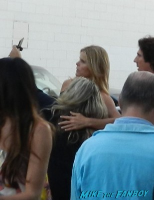 Pinky getting a photo with Mariel Hemingway at a party in santa monica for th 2012 emmy awards!