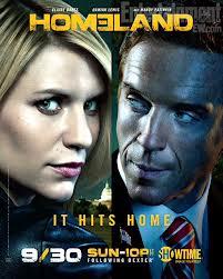 homeland season 2 promo poster key art claire danes rare damien lewis hot showtime promo