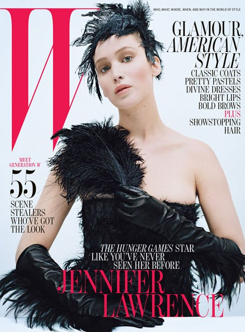jennifer lawrence hot sexy w magazine cover october 2012 hunger games katniss everdeen rare promo silver linings playbook photo shoot sexy hot rare