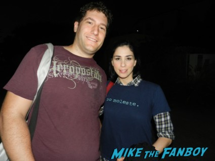 fanboy mike mike the fanboy posing with sarah silverman for a fan photo rare promo I'm fucking matt damon