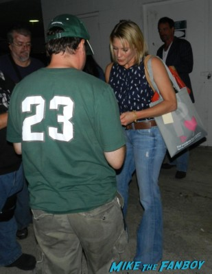 katee sackhoff  signing autographs for fans looking hot and sexy rare battlestar galactica starbuck photo shoot rare promo 24 longmire
