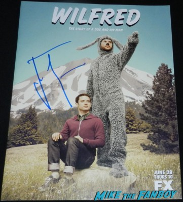 jason gann signed autograph wilfred season 1 one promo poster presskit press kit rare hot promo
