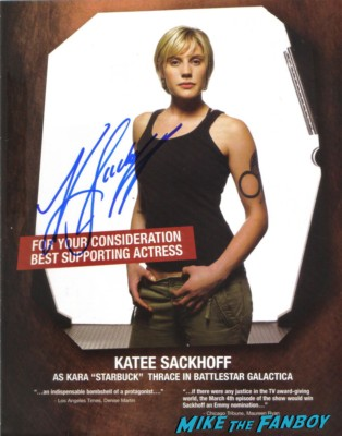 katee sackhoff signed autograph emmy ad signing autographs for fans looking hot and sexy rare battlestar galactica starbuck photo shoot rare promo 24 longmire