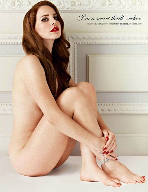 lana del rey nude british gq sexy magazine cover naked hot sexy photo shoot rare promo redhead born to die hottie sexy rare off to the races