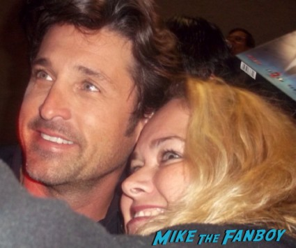 mcdreamy side win pretty in pinky posing for a fan photo with patrick dempsey aka mcdreamy from grey's anatomy hot sexy photo fail loverboy can't buy me love star rare promo