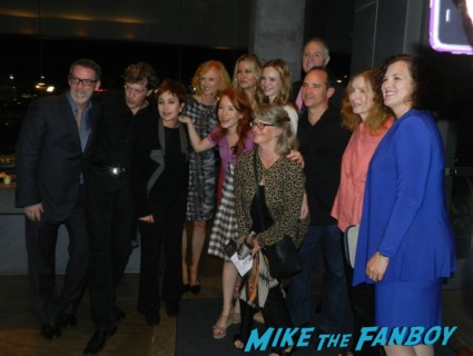 The cast of the 25th anniversary reading of steel magnolias including judith ivy annie potts francis conroy