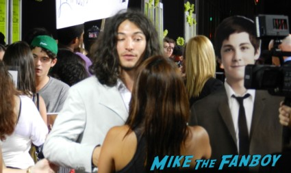 ezra miller disses fans on the red carpet at the perks of a wallflower movie premiere rare promo signed