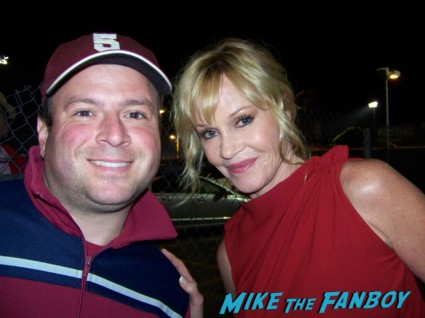 Billy Beer from Mike The Fanboy with sexy Melanie Griffith from Working Girl and Cherry 2000 signing autographs for fans