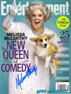 melissa mccarthy signed autograph entertainment weekly magazine rare promo magazine company rare promo