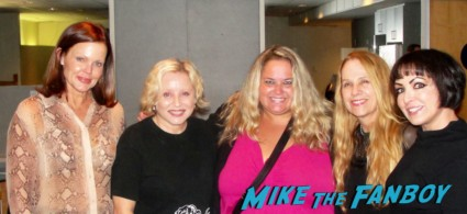 pinky with The Go-Go's at the backstage meet and greet before the Hollywood Bowl concert rare