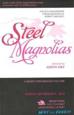 steel magnolias 25th anniversary program starring elizabeth perkins francis conroy