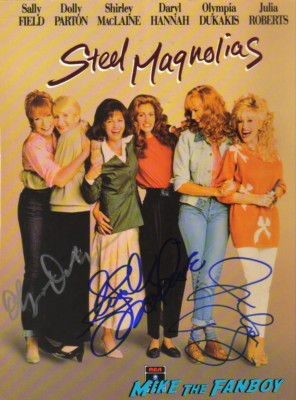 steel magnolias signed autograph movie poster promo julia roberts shirley maclaine olympia dukakis hot rare promo movie poster