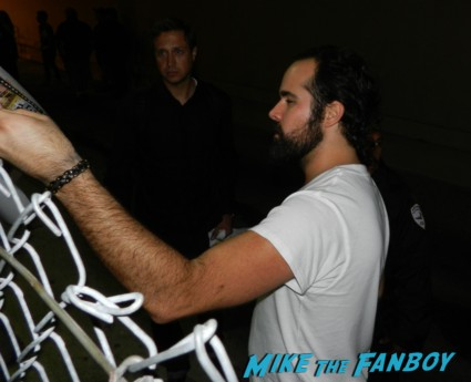 Ronnie Vannucci, Jr.signing autographs for fans from the killers picture disc rare human spaceman day and age vinyl the killers signing autographs jimmy kimmel live 019the killers signing autographs jimmy kimmel live 024