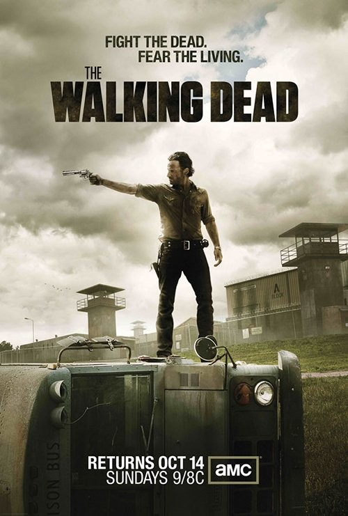 the walking dead season rare promo poster andrew lincoln rick grimes new amc promo hot rare