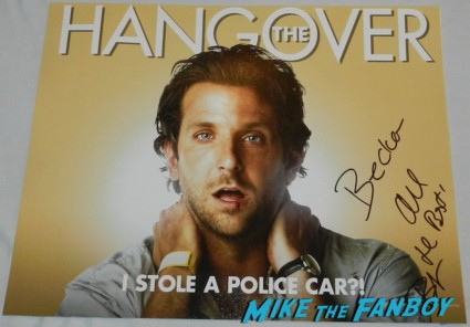bradley cooper signed autograph the hangover promo individual movie poster promo hot sexy photo shoot screensaver