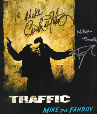 catherine zeta jones topher grace signed autograph traffic program rare promo poster one sheet hot rare
